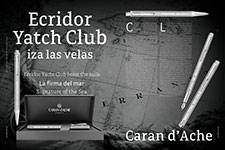 Ecridor Yacht Club hoist the sails - Caran d'Ache