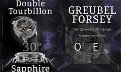 Double Tourbillon 30° Sapphire Greuble Forsey - GREUBEL FORSEY