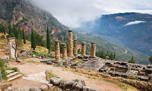 Temple At Delphi Know Thyself