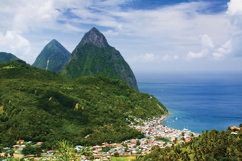Soufrière was the first capital of St. Lucia.