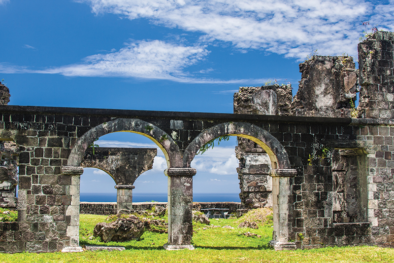 Archaeological ruins are abundant in St. Lucia