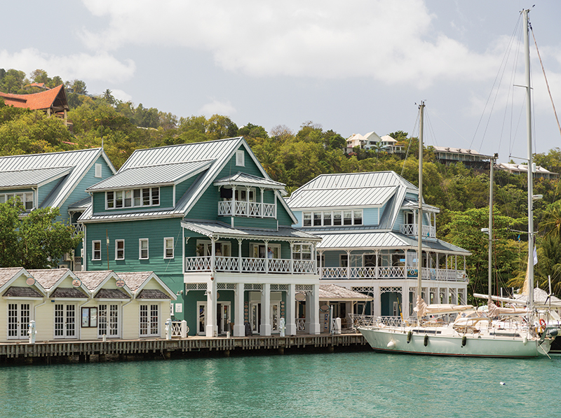 St. Lucia's traditional architecture is of French and British influence.