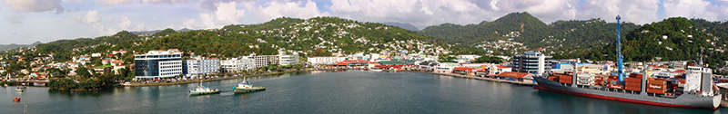 Port of Castries, capital city of St. Lucia
