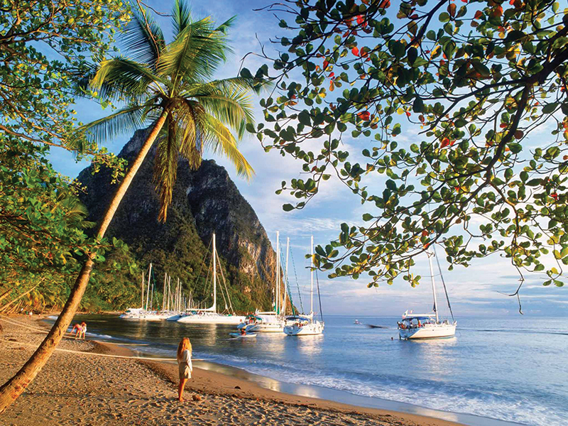 St. Lucia attracts around 350,000 visitors per year