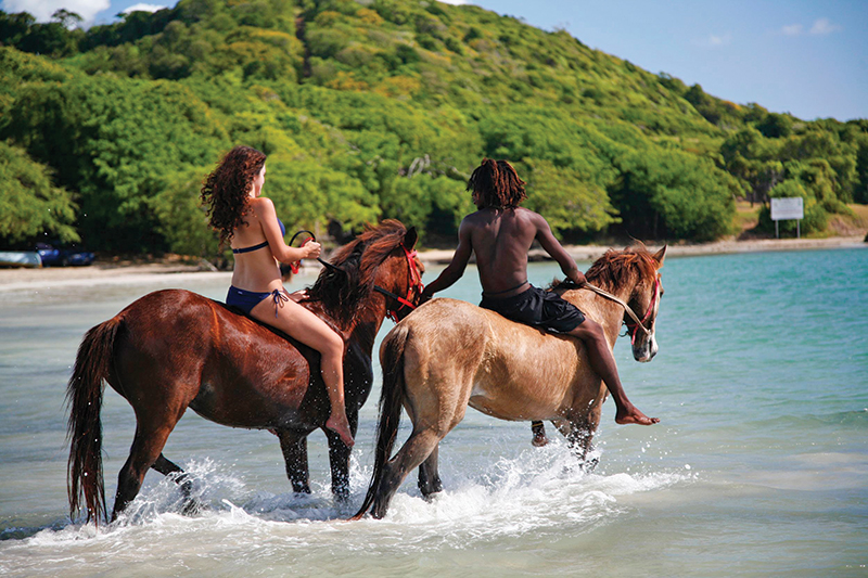 Horseback riding and swimming with horses are some of the best activities for visitors