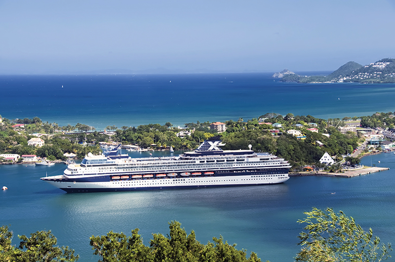 St. Lucia welcomes numerous cruise ships
