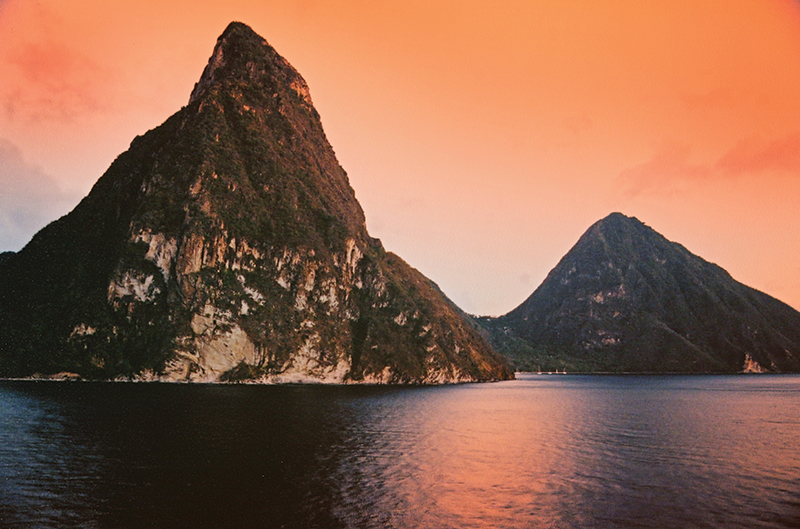 The Pitons are one of St. Lucia's most famous touristic attractions