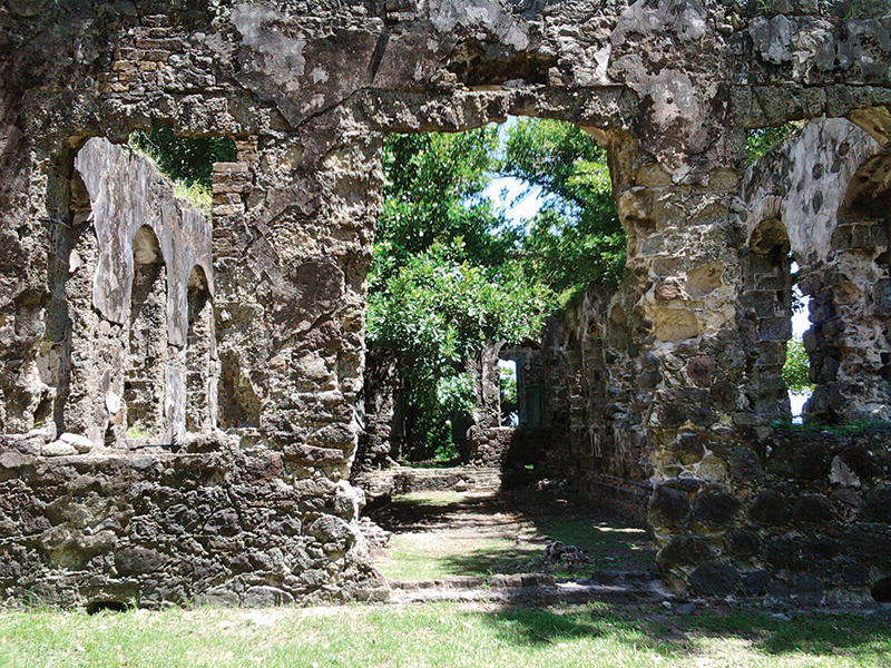 Pigeon Island is the most important monument of St Lucia's history