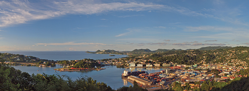 Castries, capital of Saint Lucia