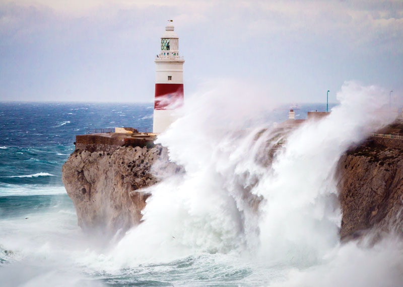 The Europa Point Lighthouse remains active, and at night, its light is visible at a distance of 30 miles.