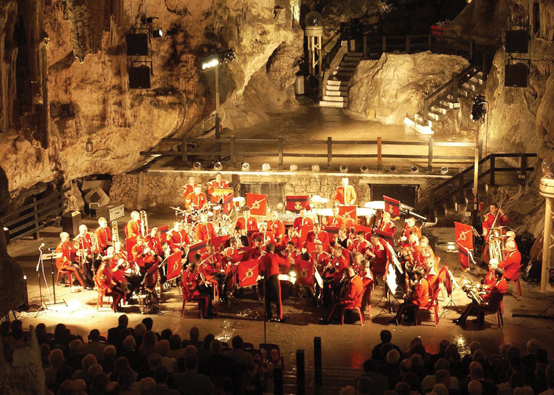 Concerts and different shows take place at St. Michael's Cave.