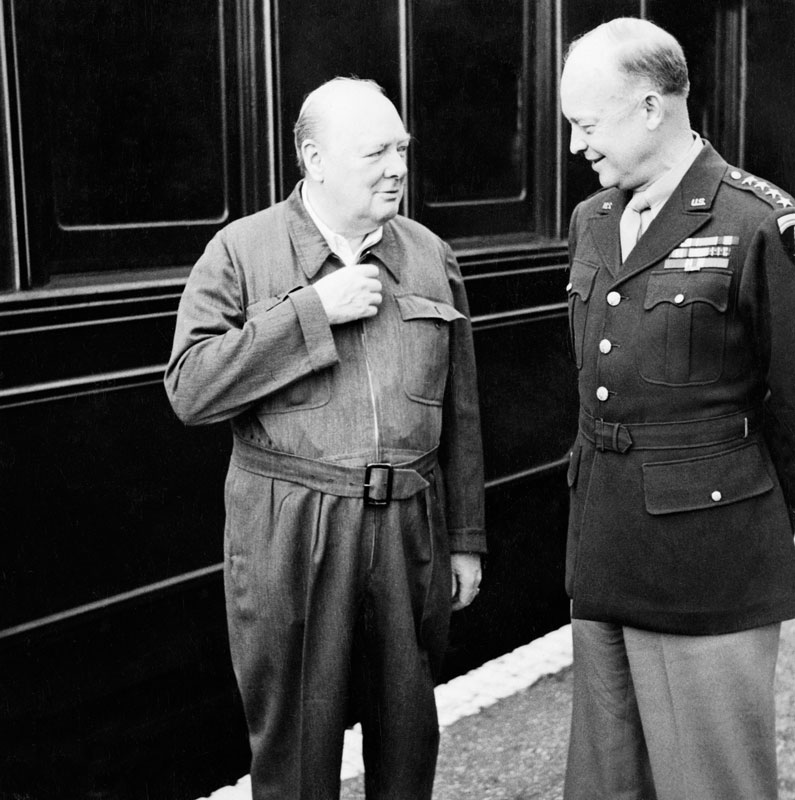Winston Churchill and Dwight D. Eisenhower had a meeting in Gibraltar during World War II.