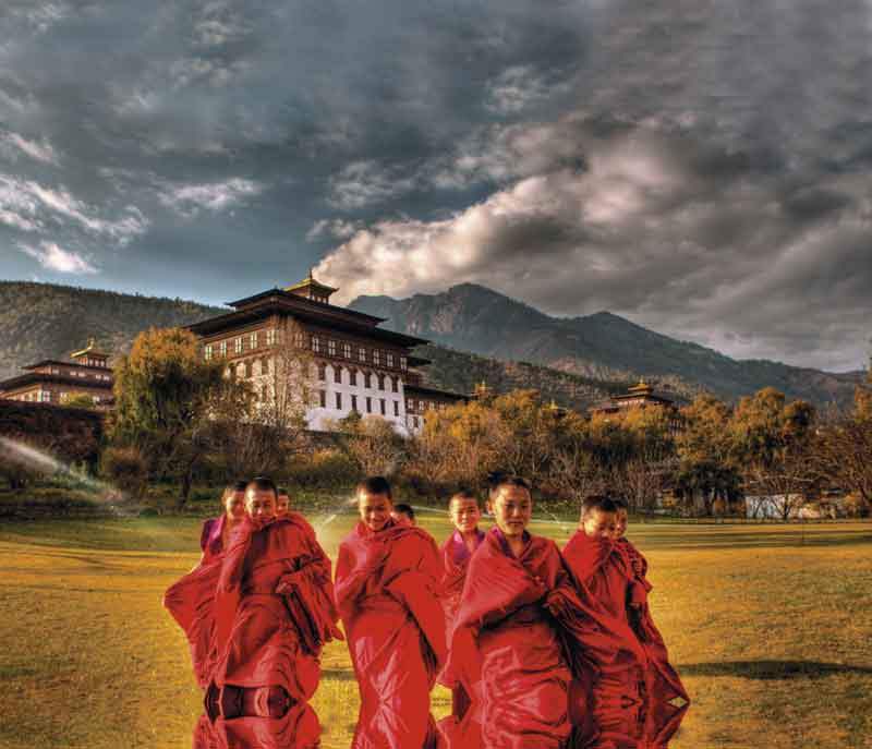 Bhutan, considered the land of Gross National Happiness.