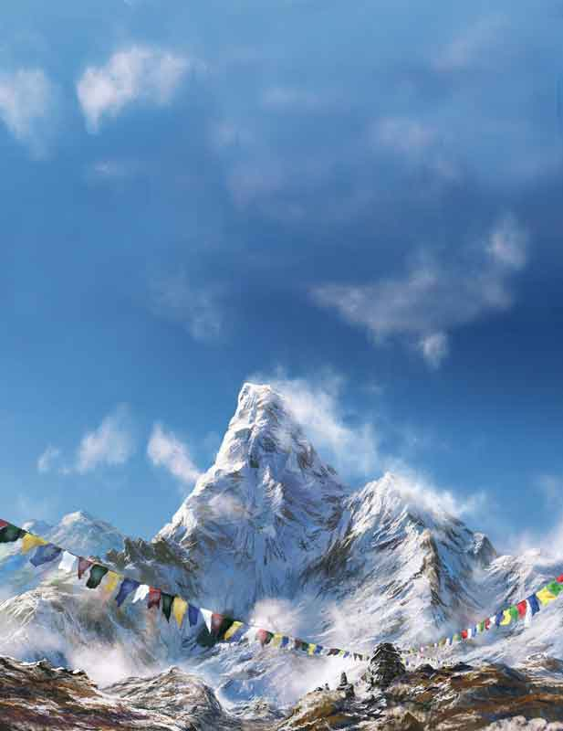 The Himalayas include the highest mountains in the world.