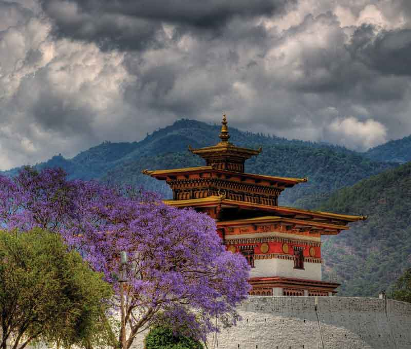 The Dzongs (monasteries and fortresses) were built historically in places of strategic importance.