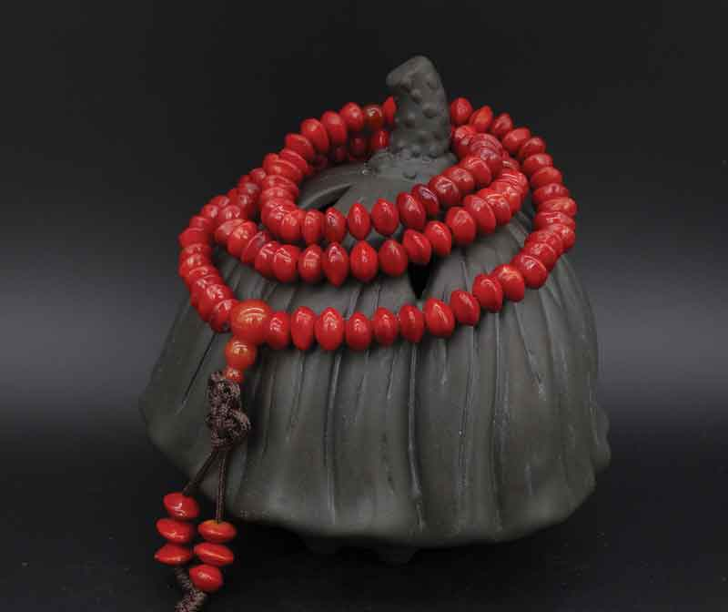 On a mala, or set of mantra counting beads, there are generally 108 pieces.