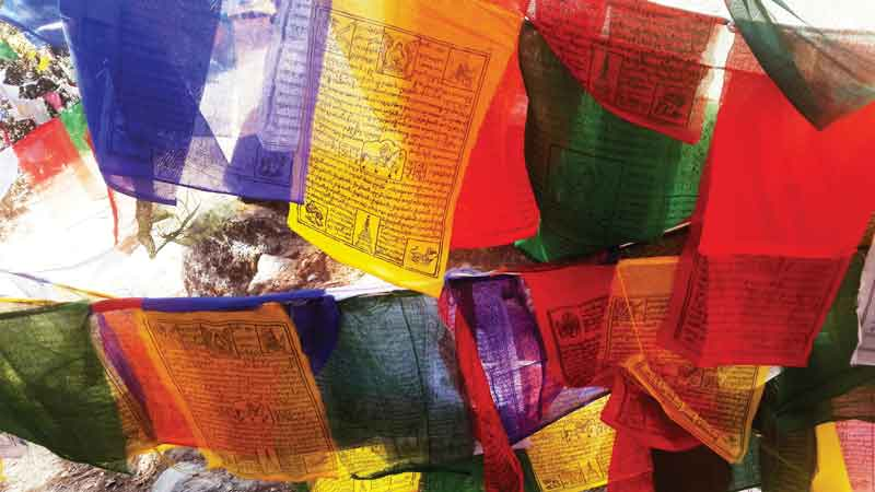 Prayer flags are one of the most representative landscape images across the country.