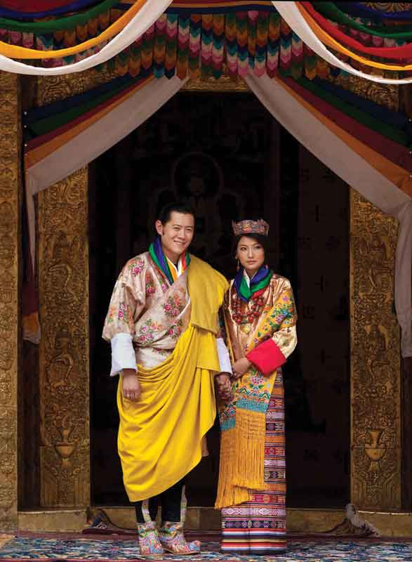 The current kings of Bhutan.