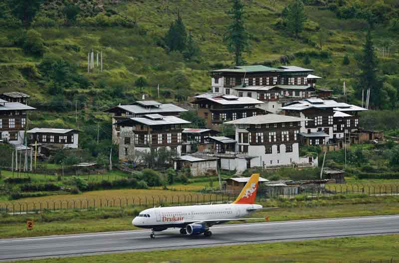 Takeoffs and landings in the Paro  airport, are among the world's most difficult.