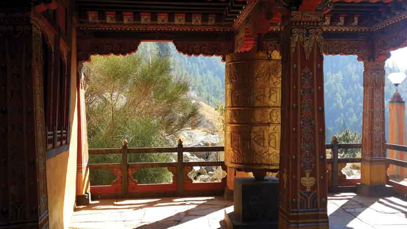 Paro Dzong; the artistic spirit of Bhutan.