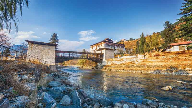 Rinpung Dzong overlooking the Paro valley was built by Padmasambhava - Guru Rinpoche (Precious Guru) at the beginning of the tenth century.