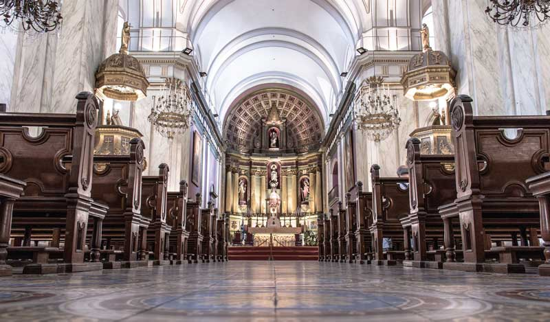 Amura,Also called Iglesia Matriz, Montevideo Metropolitan Cathedral was consecrated in 1804.