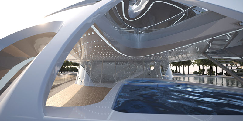 Amura,The Unique Circle Jazz Yacht diseñado por Zaha Hadid