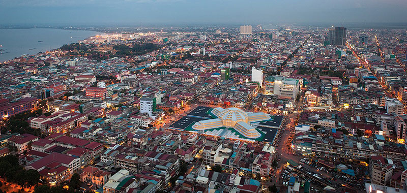 Amura, Camboya, Cambodia,  Originally Phnom Daun Penh, it became the capital of Cambodia in1432.