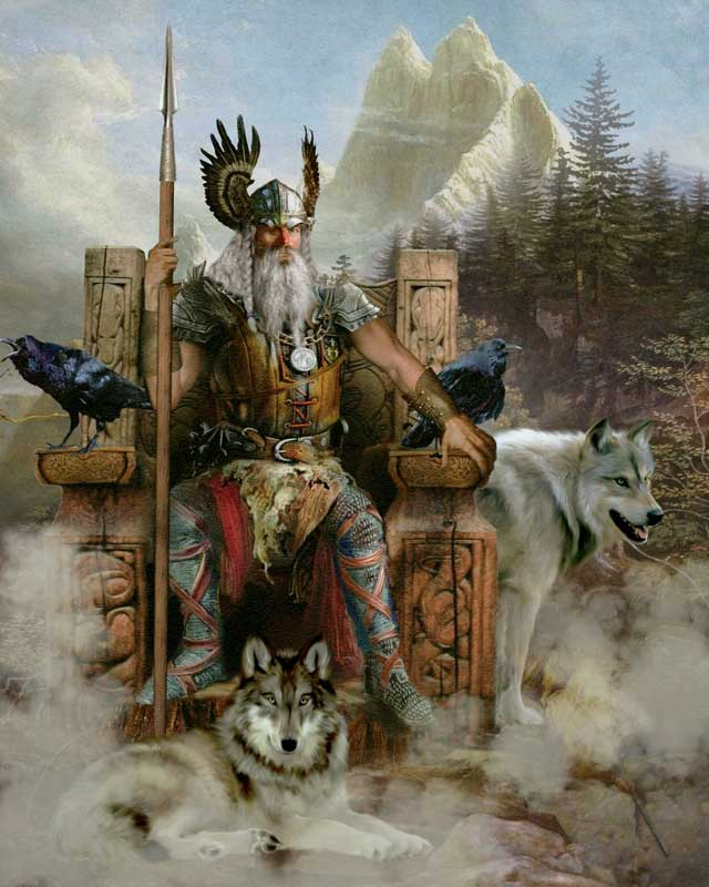 Amura,Dinamarca,Denmark,Vikingos,Escandinavia, Odin, Nordic god of war: the divine patron of rulers, and the marginalized; he is also the god of poetry.<br />