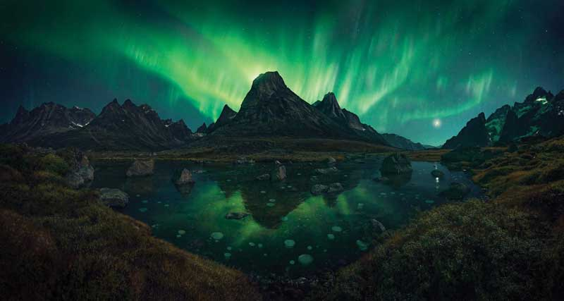 Amura,AmuraWorld,AmuraYachts,Groenlandia, The flickering of the aurora borealis can be seen reflect in the architecture of the country